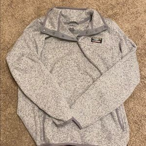 LLBEAN pullover light grey & insulated